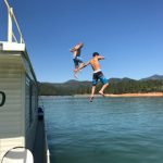 House boat jumping